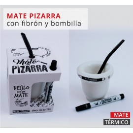 MATE PIZARRA CON CAJA